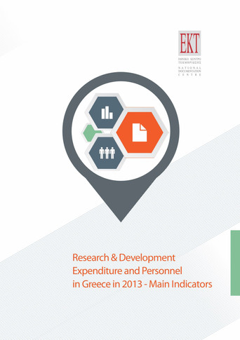 Research & Development Expenditure and Personnel in Greece in 2013-Main Indicators