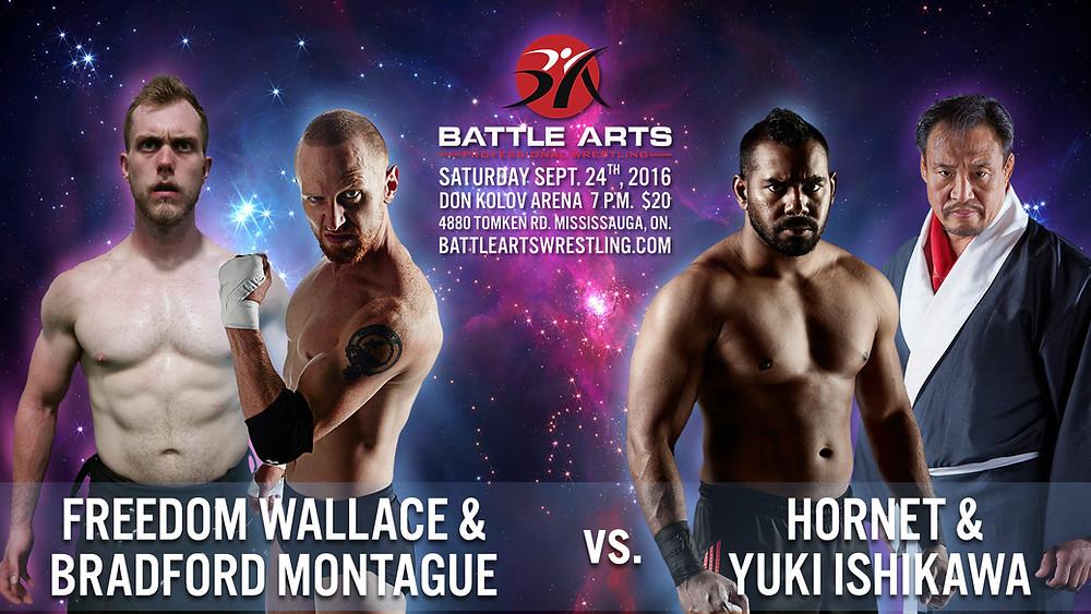Freedom Wallace & Bradford Montague vs. Hornet & Yuki Ishikawa