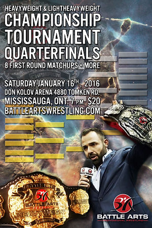 Battle Arts Professional Wrestling Heavyweight & Light Heavyweight Championship Tournament Quarterfinals January 16, 2016