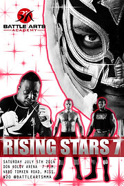 Battle Arts Rising Stars 7 poster wrestling