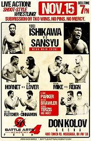 Battle Arts Ishikawa Yuki November 2014 Sansyu Sanshu Wrestling Hornet