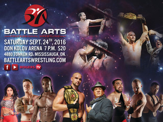 JOIN US TONIGHT FOR BATTLE ARTS PROFESSIONAL WRESTLING