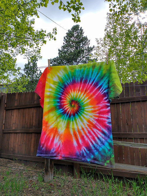 Traditional Rainbow Spiral Tie-Dye T-Shirt - XX-Large
