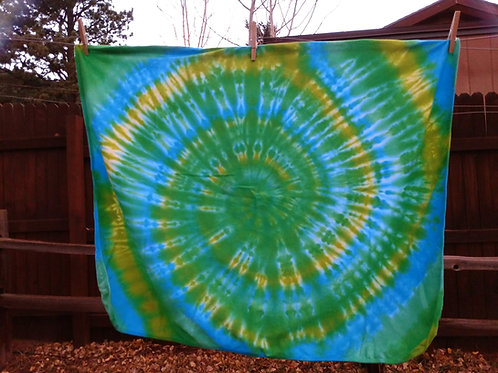 Traditional Spiral Tie-Dye Baby Blanket