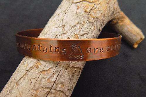 Copper Bracelet: The Mountains are Calling