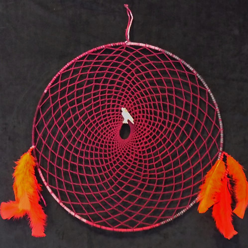 Red Dreamcatcher with Eagle Totem