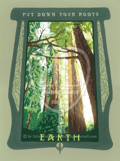Art Print: 'Earth' Quote