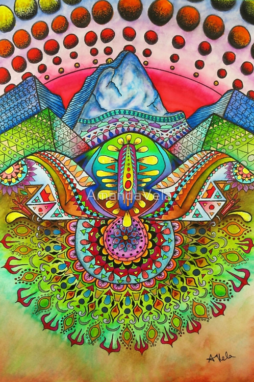 Psychedelic Mountain Landscape