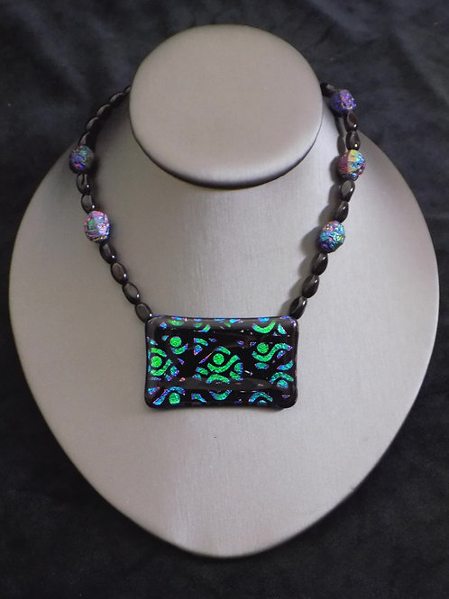 Intersection Fused Glass Choker