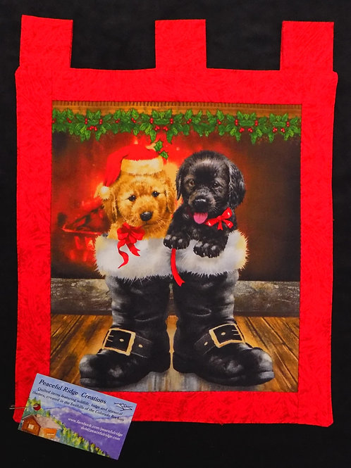 Christmas Dogs Small Tapestry