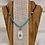 Thumbnail: Antler Necklace with Colorado Turquoise & Black Suede Cord