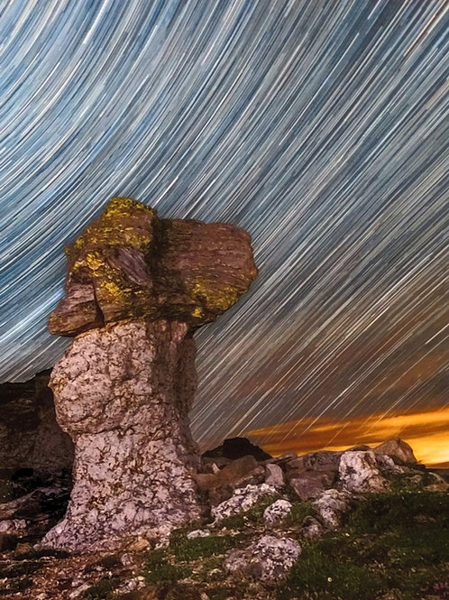 Star Trails at Mushroom Rock
