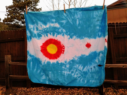 Colorado Flag Tie-Dye Baby Blanket