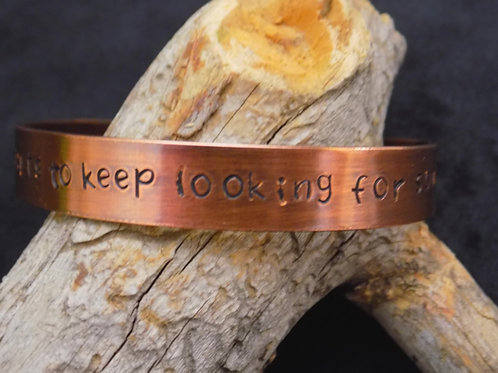 Copper Bracelet: It never hurts to keep looking