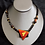 Thumbnail: Geometric Magma Fused Glass Necklace