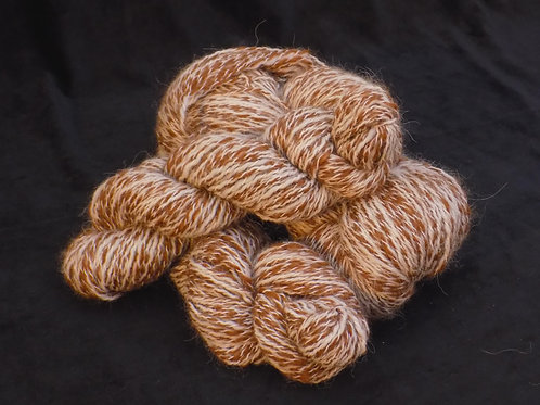 Alpaca Yarn - White/Brown