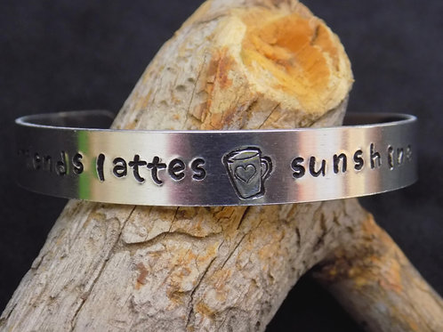 Aluminum Bracelet: Friends Latte Sunshine
