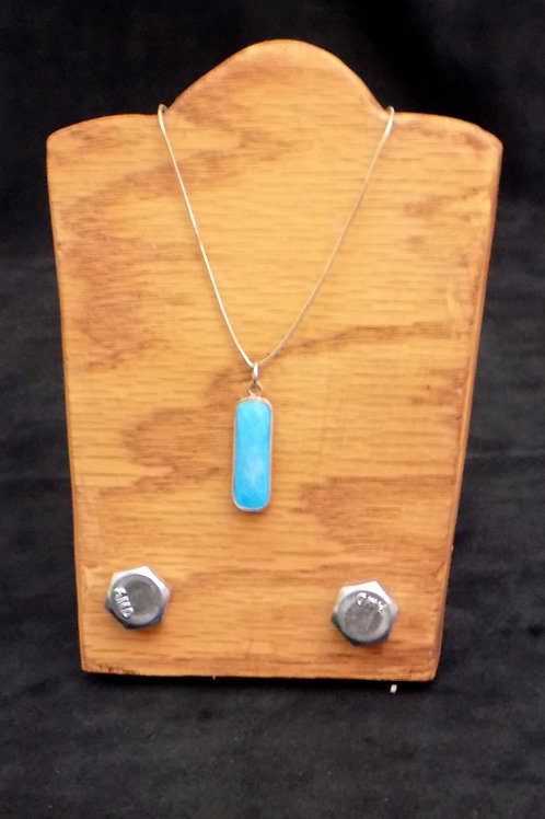 "Colorado Turquoise & Sterling Silver 18"" Necklace"