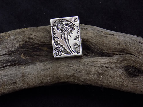 Thistle Silver Bead