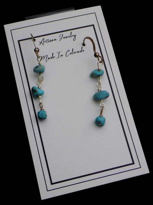 Turquoise on Sterling Silver Wire