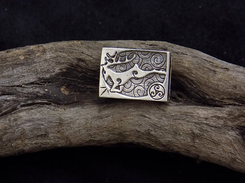 Stag Silver Bead