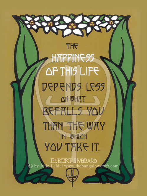 Hubbard: Happiness Quote