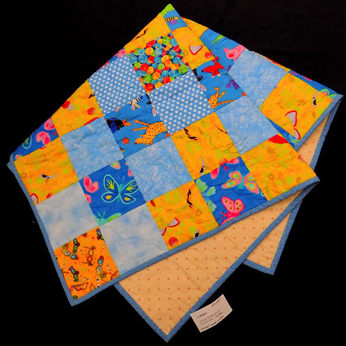 Blue & Yellow Animal Quilt