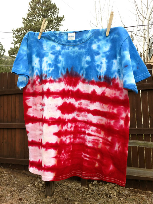 American Flag Tie-Dye Youth T-Shirt - L