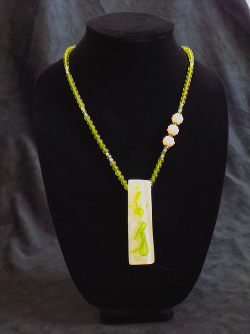 Citrus Fused Glass Necklace