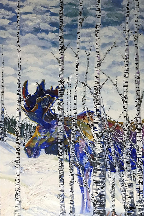 Moose on the Loose - Original Acrylic Painting