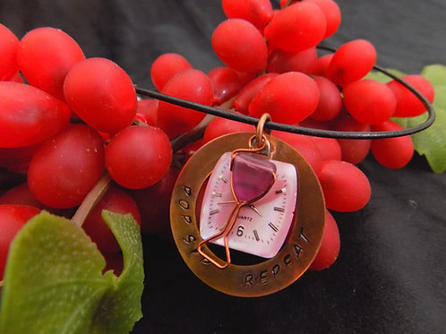 Time for Wine: Stamped Copper Necklace