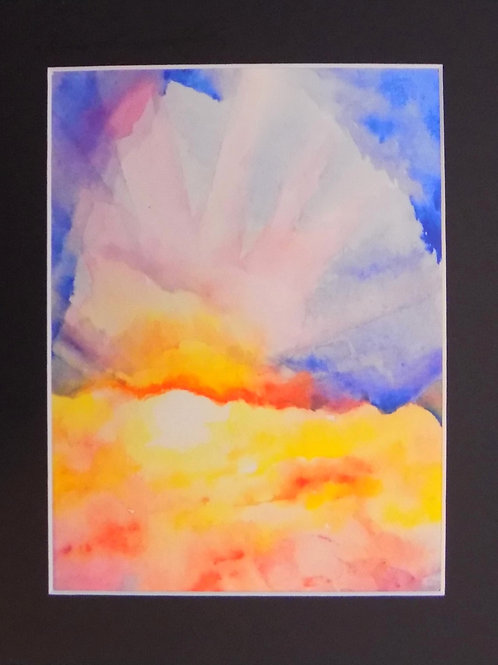 Matted Art Print: Sunrise