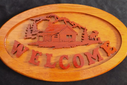 Welcome Cabin Sign