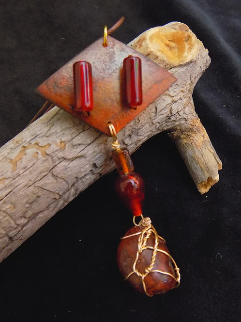 'Connection' Gourd Jewelry Pendant