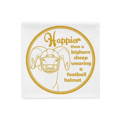 Happier Bighorn Sheep Pillow Case