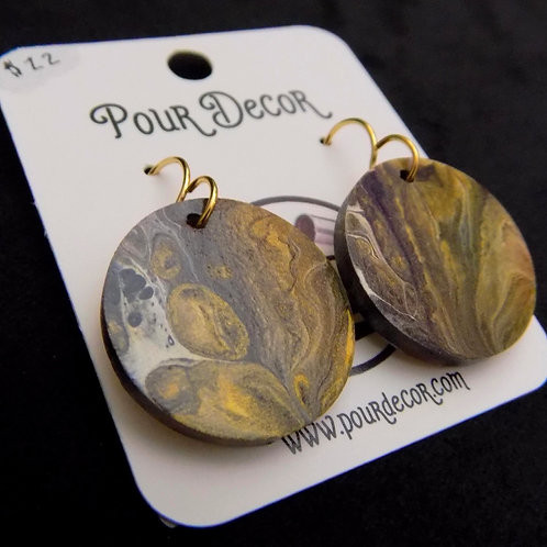 Pour Painted Earrings
