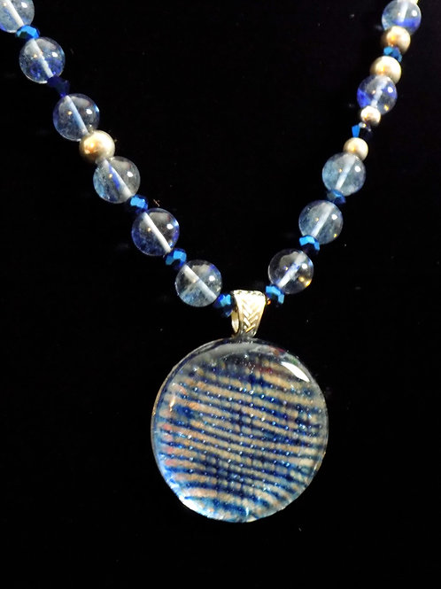 Dew Drop Fused Glass Necklace