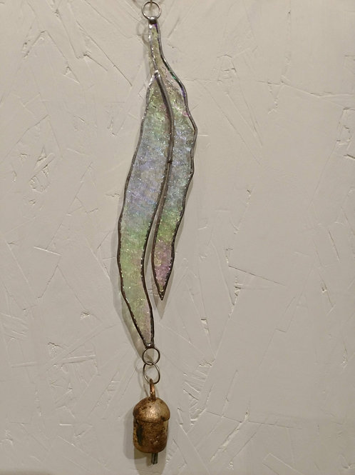 Textured Opaque Feather Wind Chime