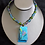 Thumbnail: Ocean Breeze Fused Glass Necklace