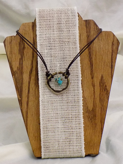 Antler Choker Necklace with Colorado Turquoise