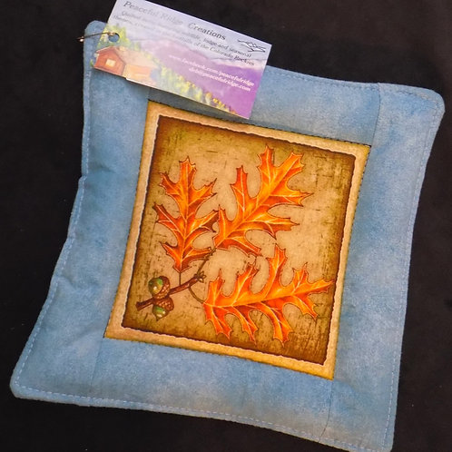 Fall Oak Leaves Potholder