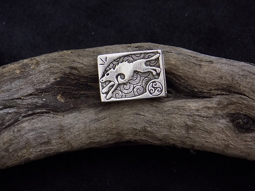 Wolf Silver Bead