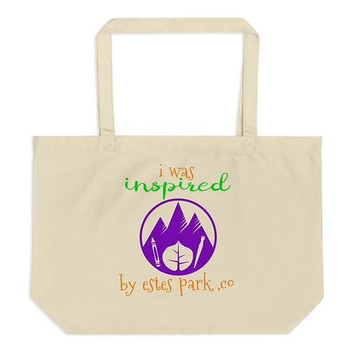 Inspired by Estes Park: Large organic tote bag