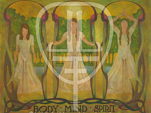 Art Print: 'Body, Mind, Spirit' Quote