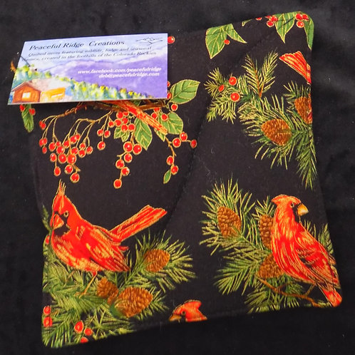 Cardinals on Branches Pot Holder