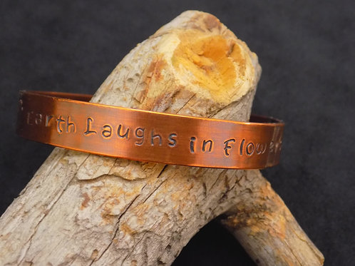 Copper Bracelet: The Earth Laughs in Flowers