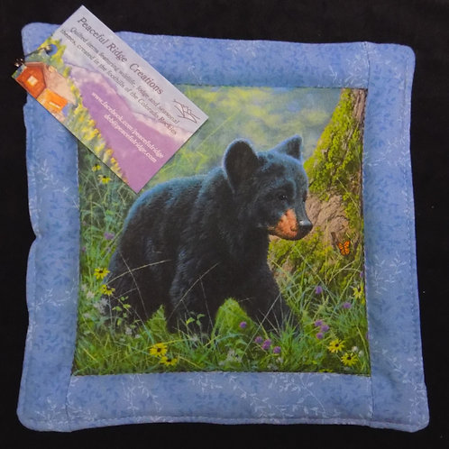 Baby Bear in the Forest Pot Holder
