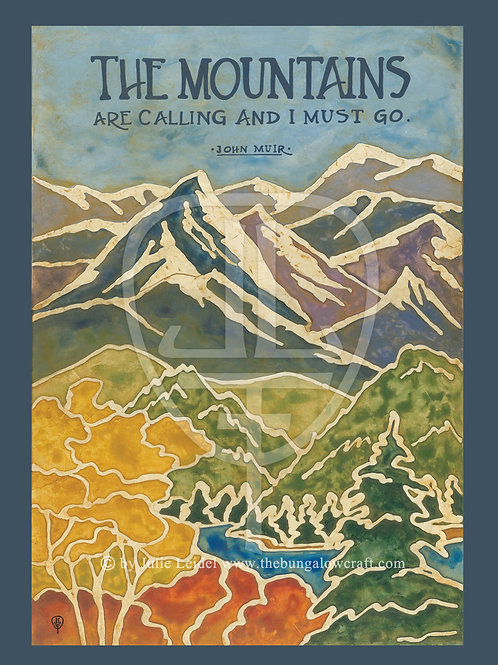 Muir: Mountains Quote