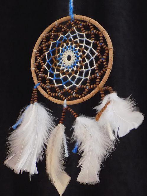 """5"""" Tan Dreamcatcher with Ombre String"""