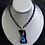 Thumbnail: Northern Lights Fused Glass Necklace